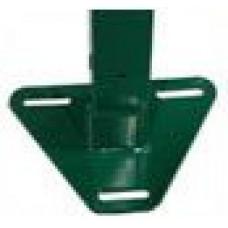 Фланец приваренный оцинкованный с полимерным покрытием треугольный или прямоугольный к столбу 62*55