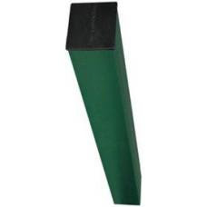 Столб оцинкованный  с полимерным покрытием с отверстиями и заглушкой  (62х55мм) h=2,5м***